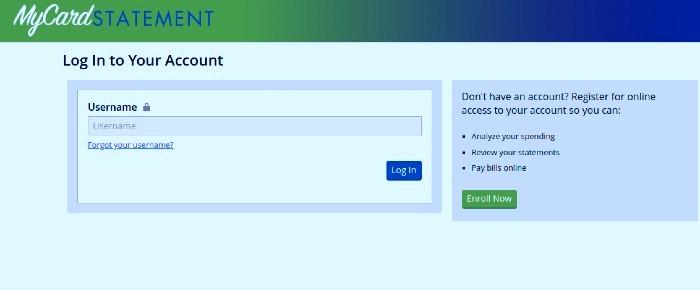 MyCardStatement-Login